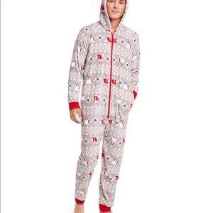 Holiday hooded pajama polar bear